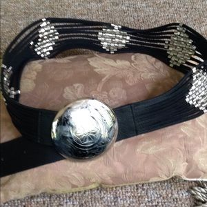 Awesome chicos black leather belt